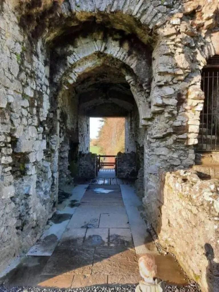 Walkway into Roscommon Castle