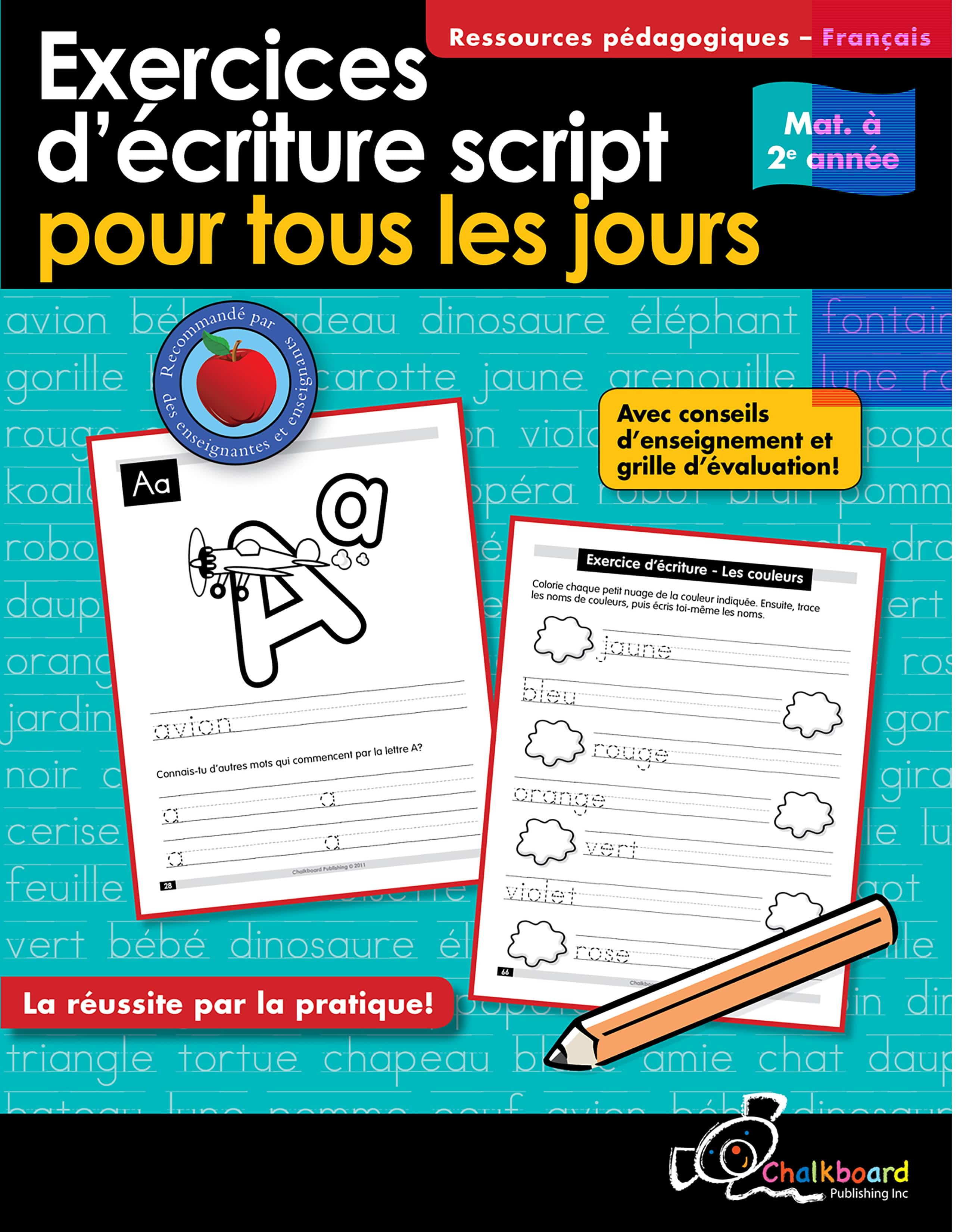 Canadian French Daily Printing Practice Grades K 2