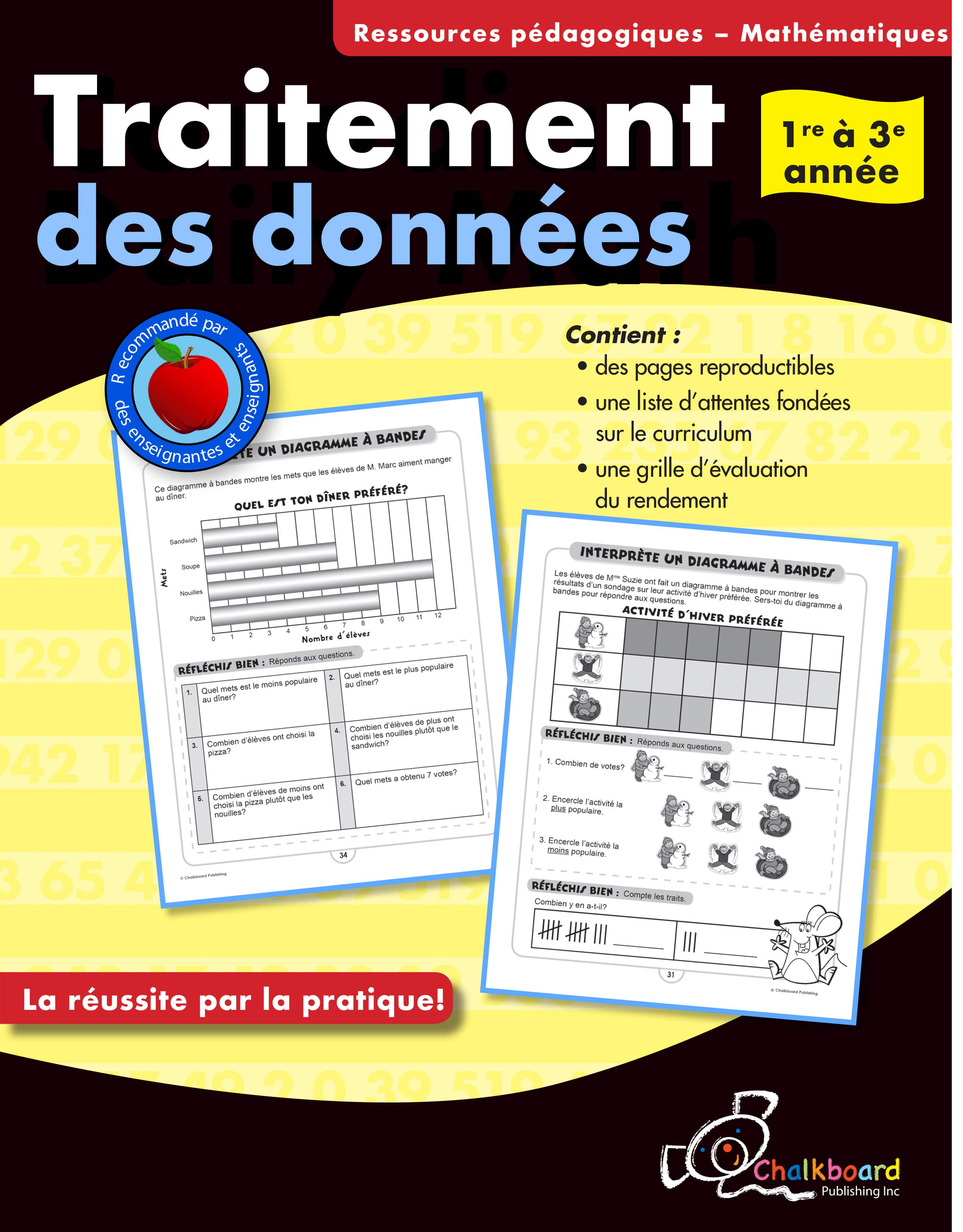 Canadian French Data Management Activities Grades 1 3