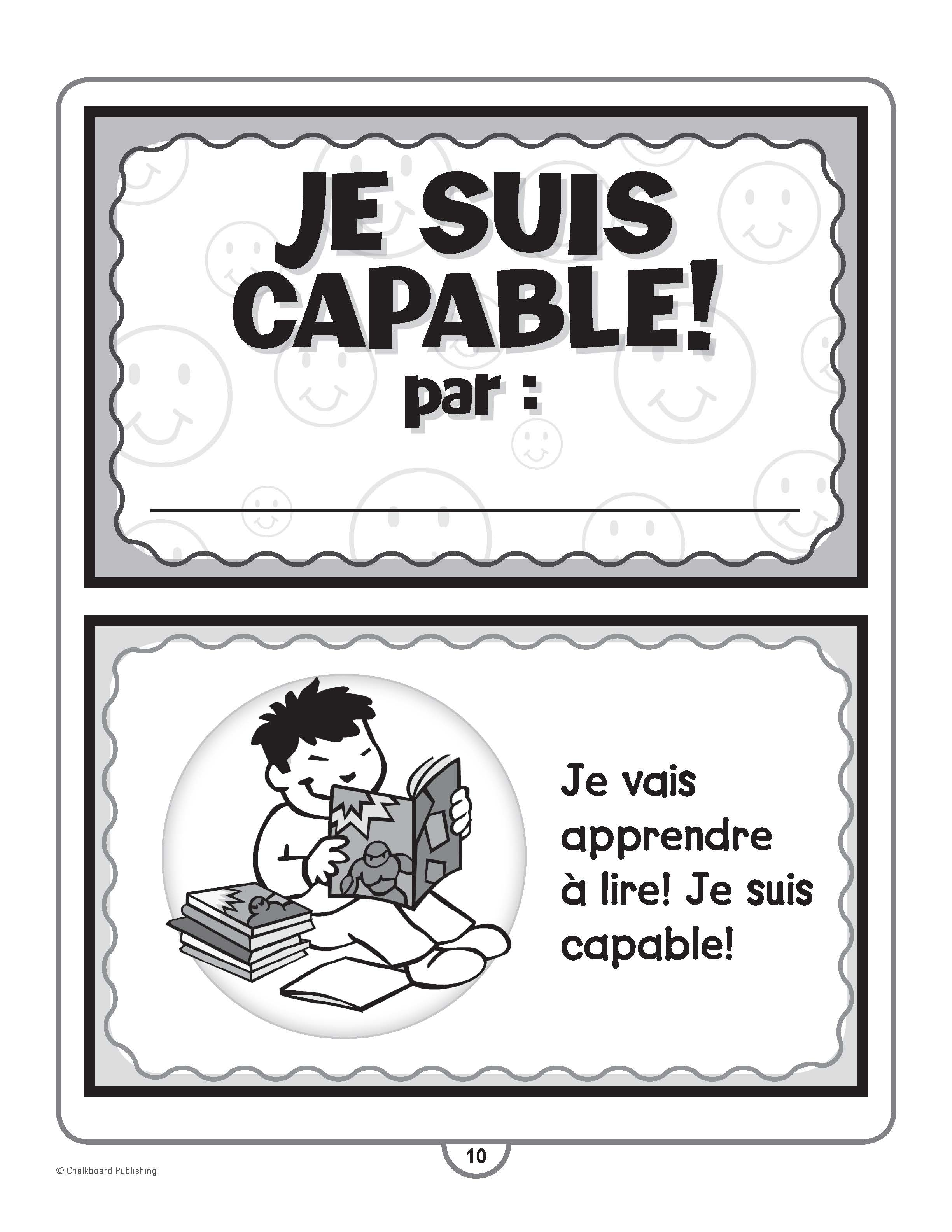 Canadian French Character Education Activities Grades K-1