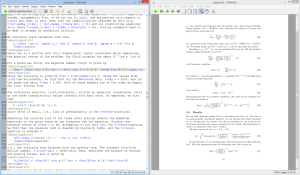 Screenshot of LaTeX