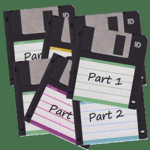 7 floppy disks