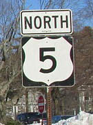 Route 5 sign