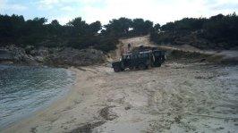 1 Pause mit dem Jeep am Meer