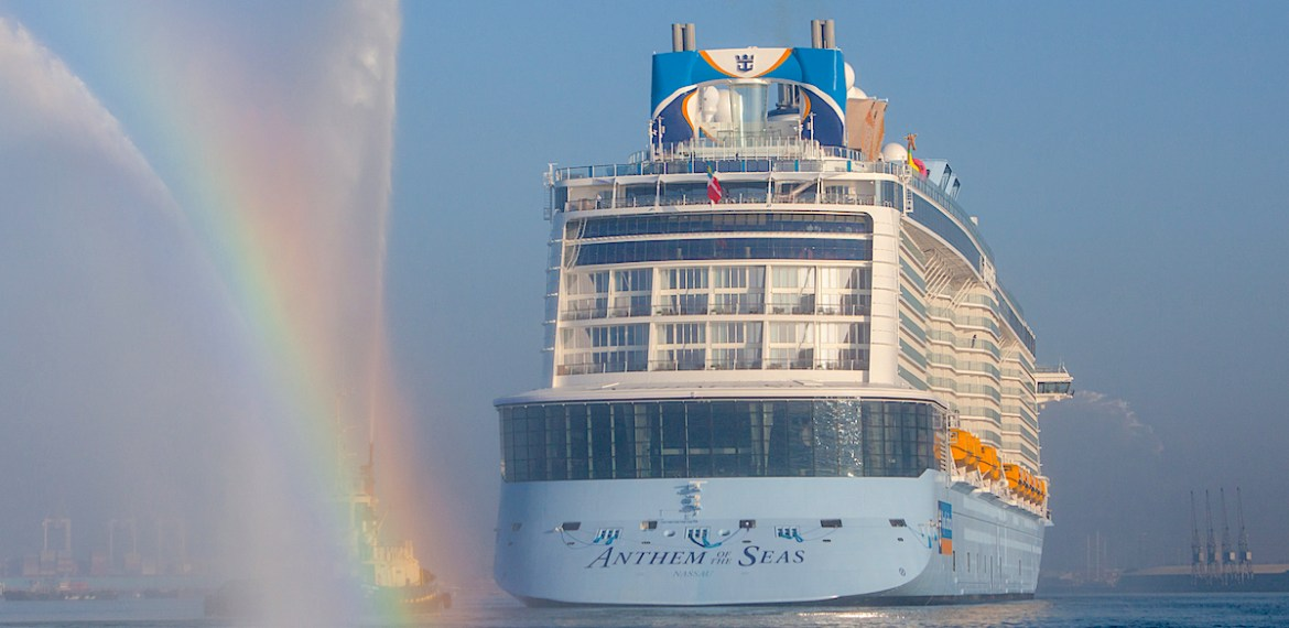 Chalkmarks Anthem of the Seas arrives in Southampton