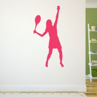Girl Tennis Player Removable ChalkTalkGraphix Wall Decal ...