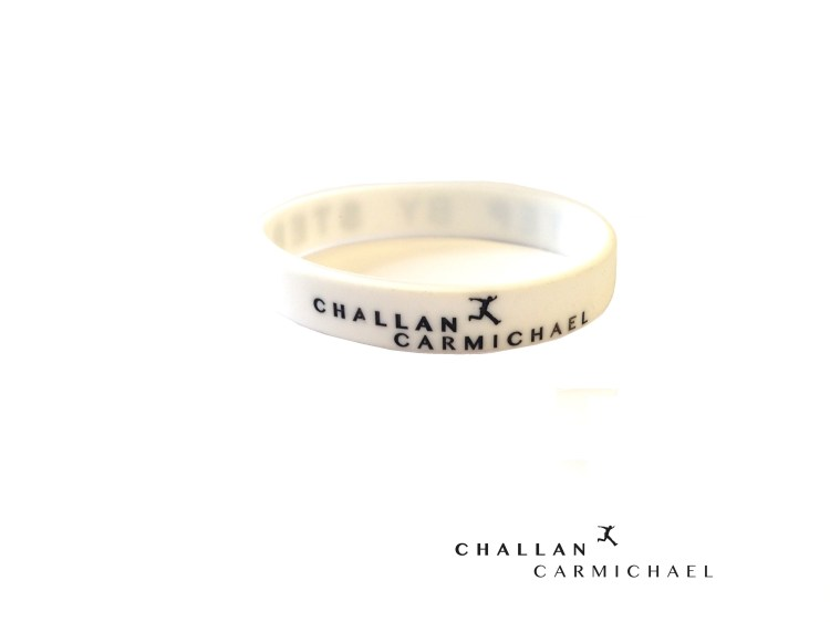 Challan Carmichael - Step By Step Wristband [White]
