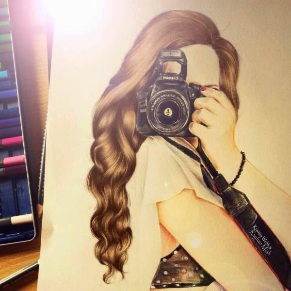 Kristina Webb Hair Drawing
