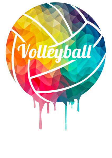 Colorful Volleyball Ball Wallpaper