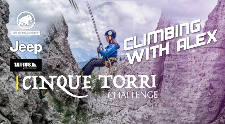 DOLOMITES #challenge for kids in Cinque Torri