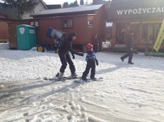 Pierwszy zjazd i to bez upadku. snowboard-to był dobry wybór.