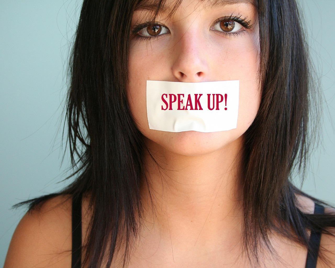 Girl With Mouth Taped Shut Wallpaper Silence Challengeschanges