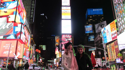 NYC times sq H and me