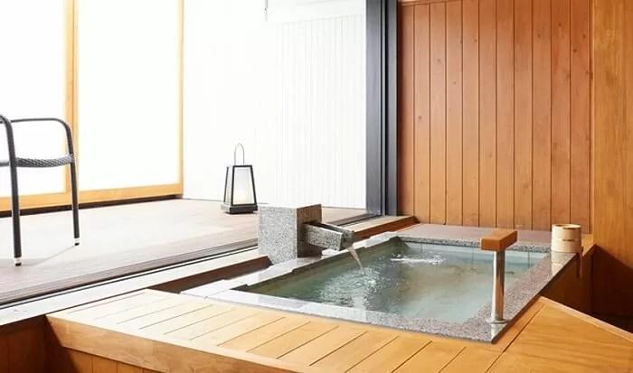 【ホテル木暮】山水亭洋室(露天風呂付きユニバーサルツインルーム)の客室露天風呂