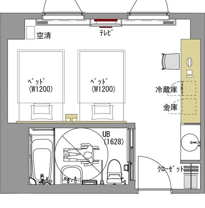 【ビスタ金沢】ユニバーサルルームの間取り図