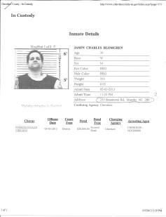 Pg 1 of Jasons arrest of stolen firearm in Murphy NC violates my injunction