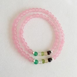 Mother and daughter, family birthstone bracelets