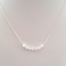 Moonstone necklace with Sterling silver.