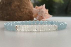 Aquamarine and Moonstone bracelet