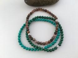 Custom stack with Turquoise, Malachite and Petrified wood