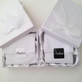 White bracelet gift boxes.