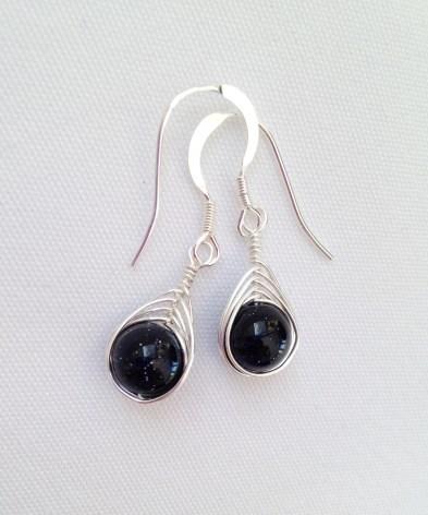 Blue Goldstone earrings.