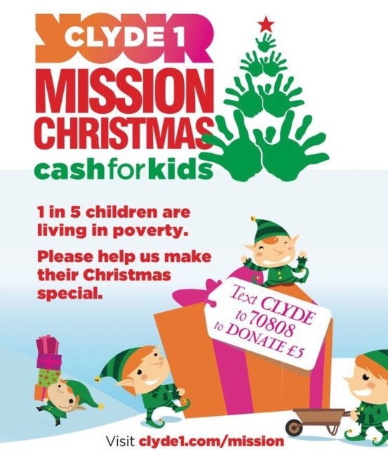 Last year I donated 10% of November's sales to Clyde Cash for Kids Mission Christmas campaign.