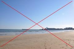 NON a la plage