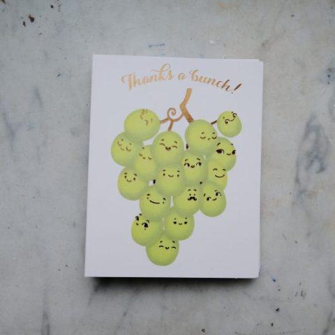 Carte de remerciement réalisé pour les éditions Papyrus