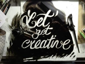 Let's get creative - lettering