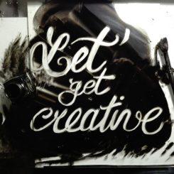 Let's get creative - lettering