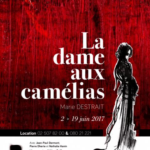 Affiche pour le spectacle la dame aux camélias