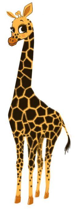 Gigi la girafe - Illustration pour enfant