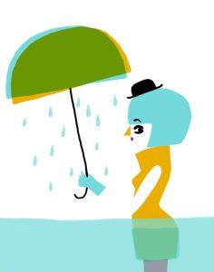 la fille sous l'eau - illustration digitale