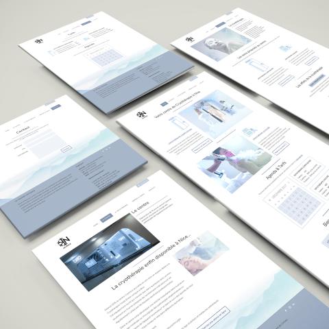 Mockup - Design d'un site pour Cryonice, entreprise spécialisé dans la cryothérapie