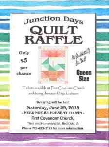 First Covenant Church Quilt Raffle