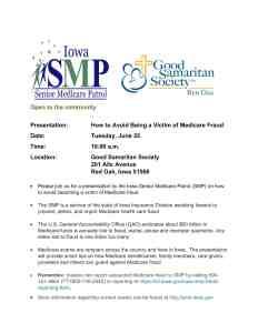 Medicare Fraud Prevention Flyer