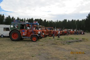 Tractors at start of Trek