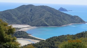 Scenic views on road to Okiwi Bay