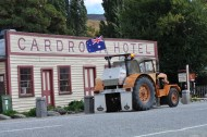Mark's tractor at Cardrona Hotel