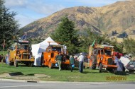 Three tractors at Wanaka Markets