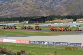 Tractors drive the new Highlands Motorsport Park circuit