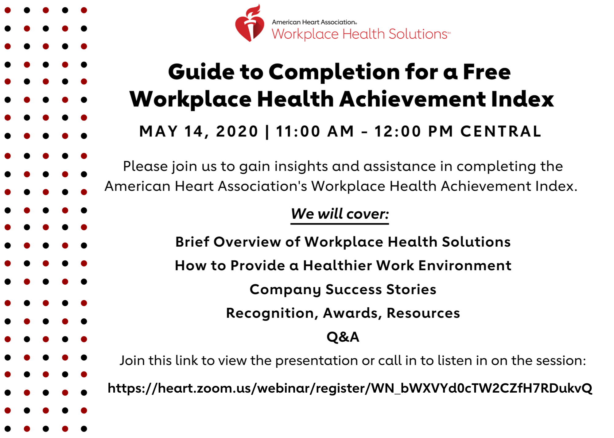 American Heart Association Workplace Index