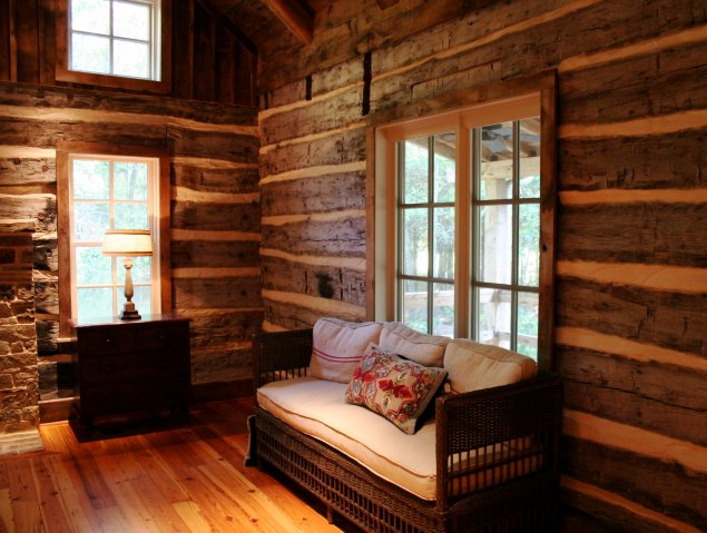 Historic Dogtrot Log Home by Stephen B Chambers Architects