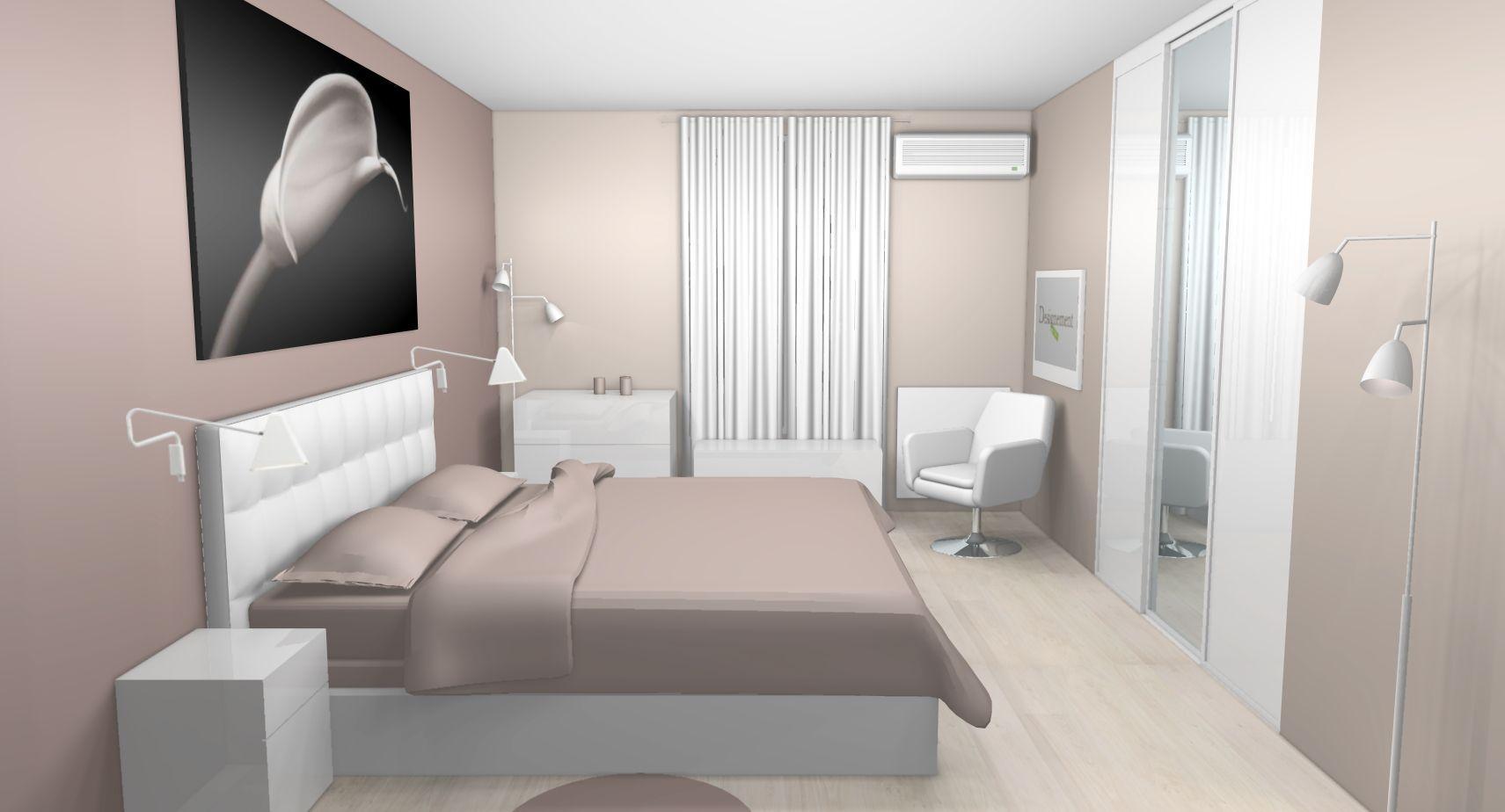 Idee Deco Chambre Blanc Et Taupe   Deco Chambre
