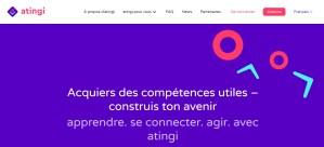 Read more about the article Apprendre. Se connecter. Agir. avec la plateforme atingi