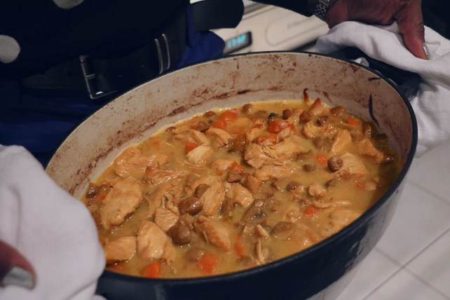 Anjou fricassee poulet Layon