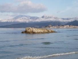 St Florent et le Cap Corse enneigé