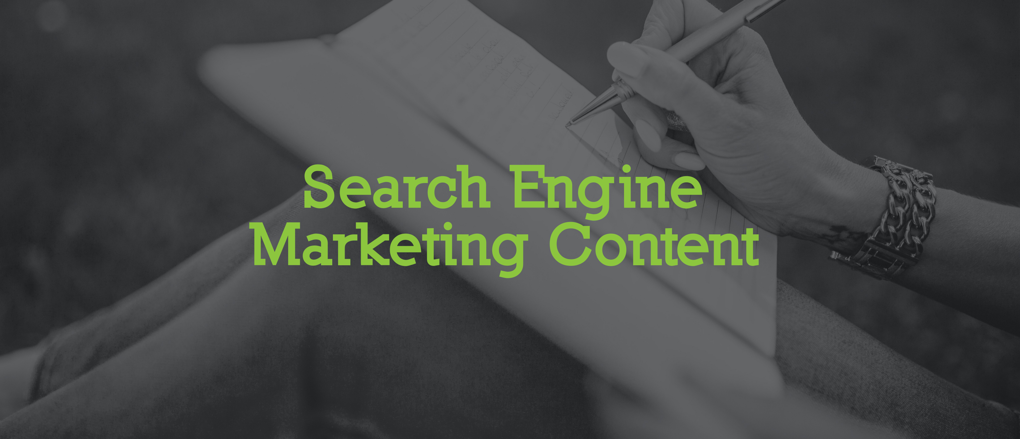 Search Engine Marketing Content provider