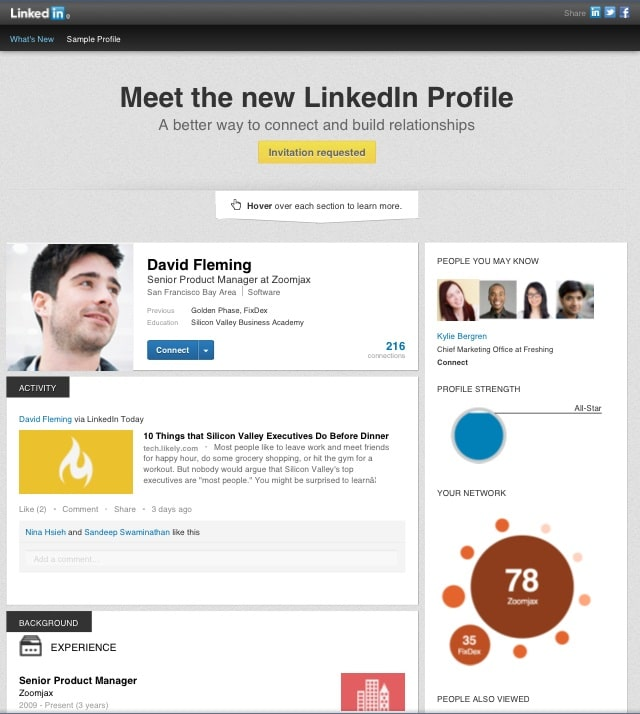 New LinkedIn Profile Job Search